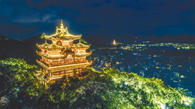 """西湖夜景观2.0正式上线 杭州这颗""""明珠""""将更璀"""
